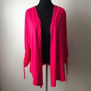 Hot Pink Open Sweater